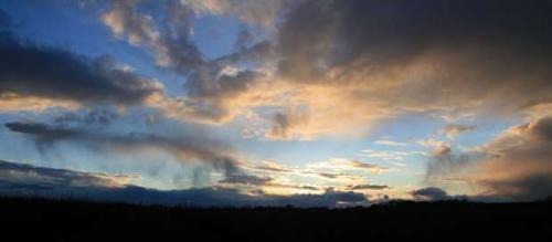 En stille dag med en stille Solnedgang